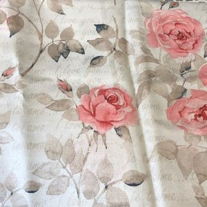 Other - I love you rose peony shower curtain